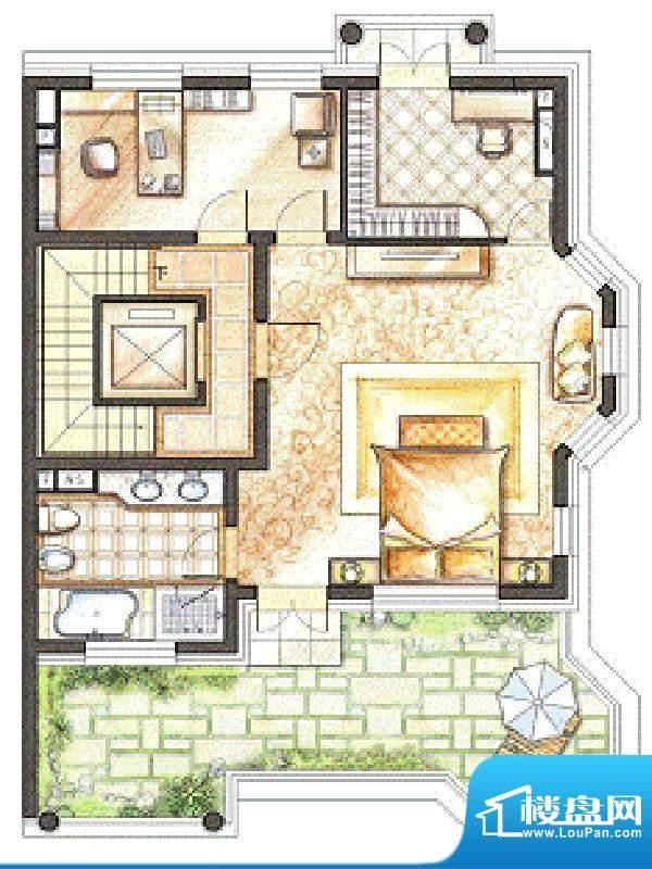 御苑地上三层 3室1厅面积:81.00m平米