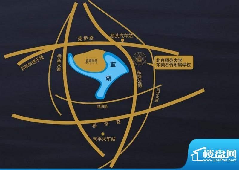 蓝湖半岛交通图