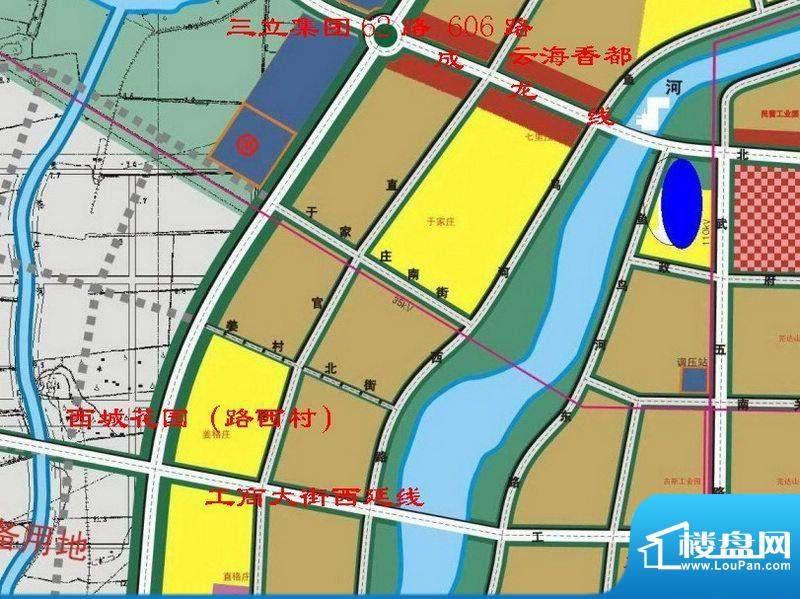西城花园交通图