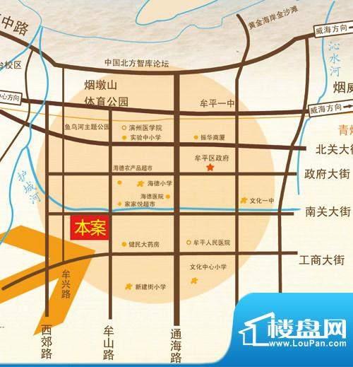 东泰百合苑交通图