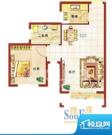 青桦逸景27、28楼标面积:63.89平米