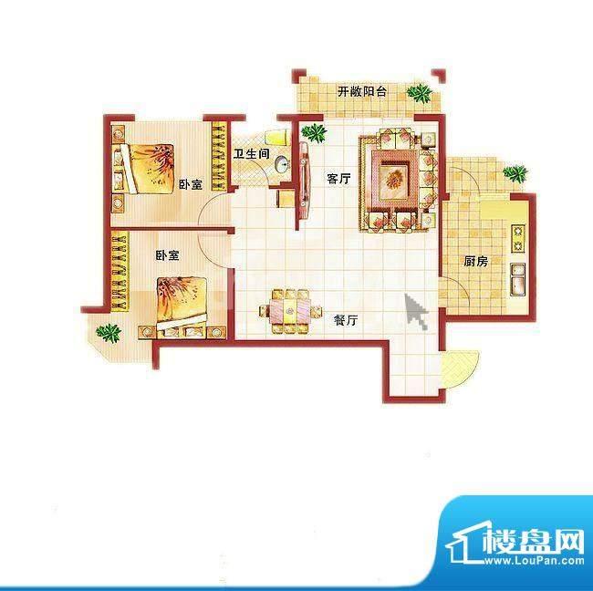 青桦逸景27#、28#楼面积:82.01平米