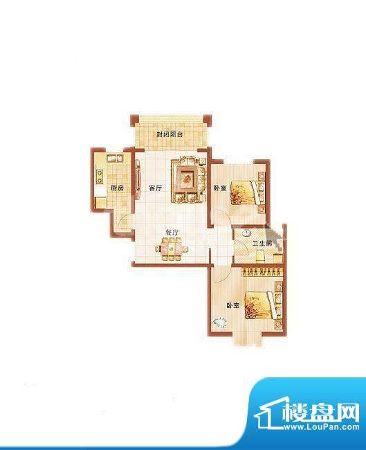 青桦逸景23#、25#、面积:82.80平米