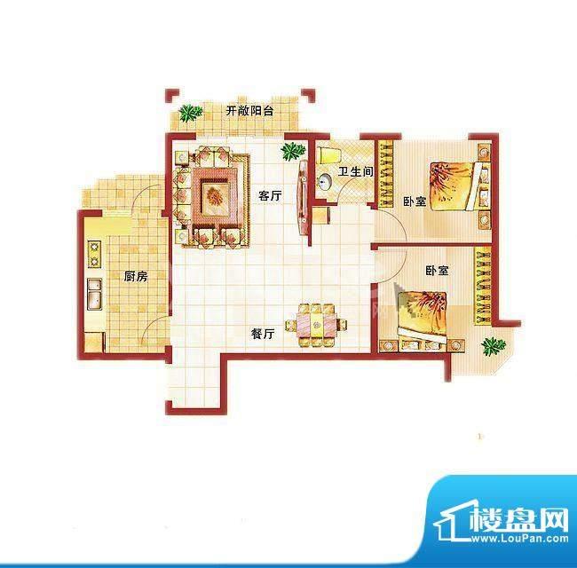 青桦逸景27#、28#楼面积:84.52平米