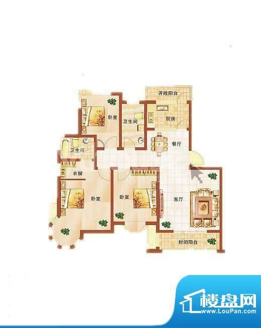 青桦逸景22#、24#楼面积:118.15平米