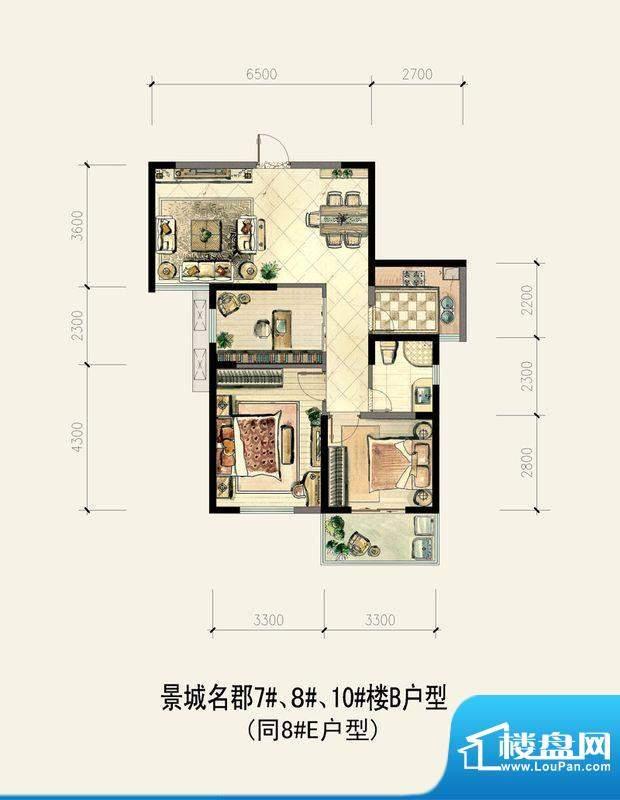 景城名郡7#、8#、10面积:0.00m平米