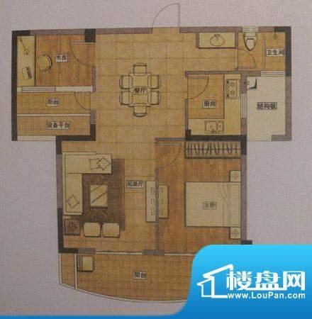 正得格林兰庭两房两面积:0.00m平米