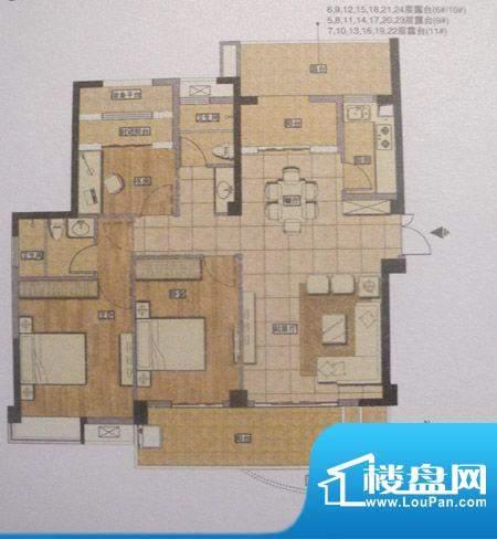 正得格林兰庭三房两面积:0.00m平米