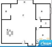 宝泰温泉花园 2室 户面积:91.00平米