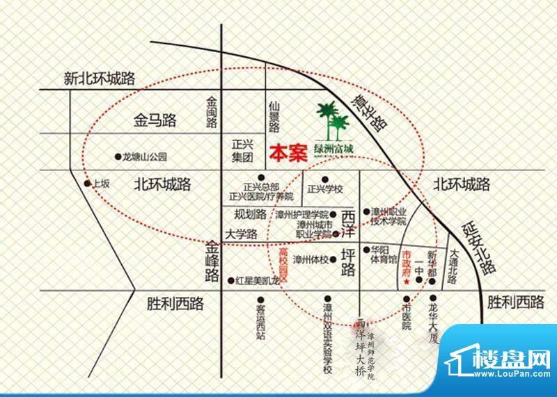 绿洲富城交通图
