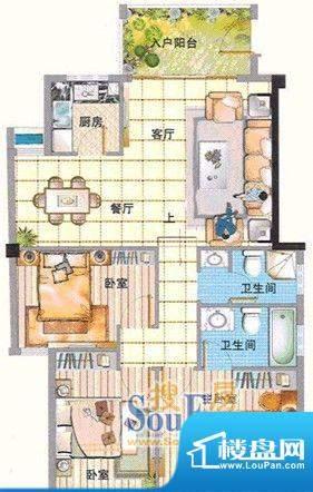 绿洲富城1-3号楼B1户面积:151.00m平米