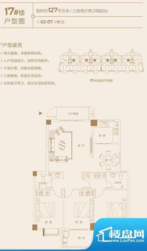 永鸿国际城17#楼02-面积:127.00m平米