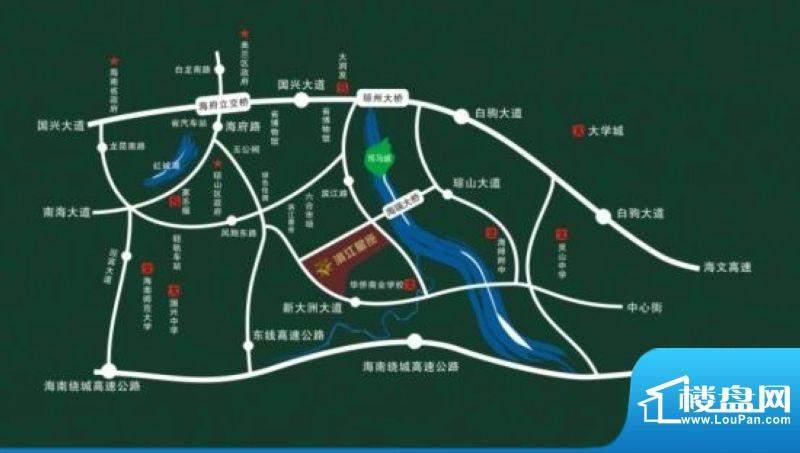 滨江星座交通图