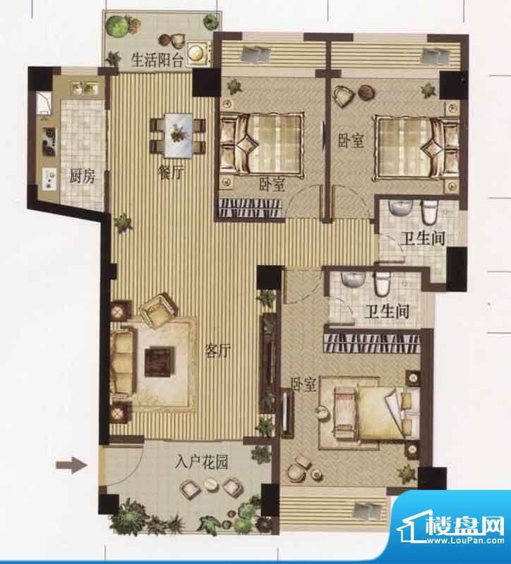 天隆.名邸天隆名邸A面积:113.28m平米