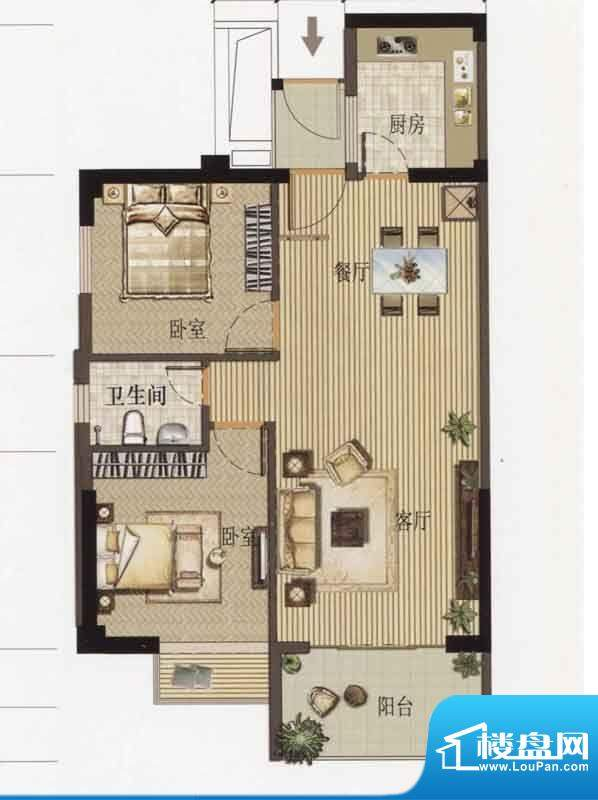 天隆.名邸天隆名邸B面积:85.80m平米