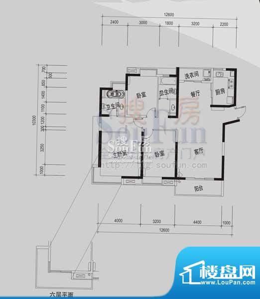 御景龙湾A(3室2厅2面积:147.11m平米