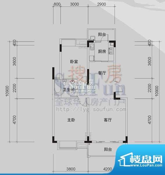 御景龙湾A1(2室2厅面积:93.05m平米
