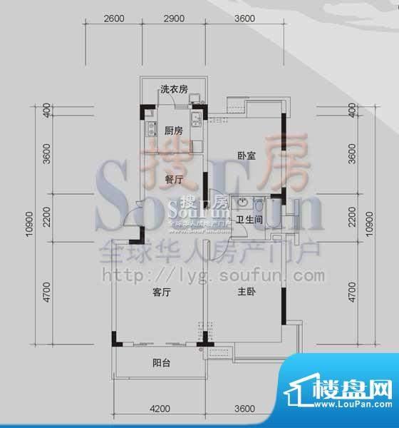御景龙湾A2(2室2厅面积:94.61m平米