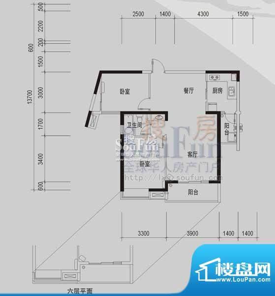 御景龙湾B(2室2厅1面积:91.25m平米