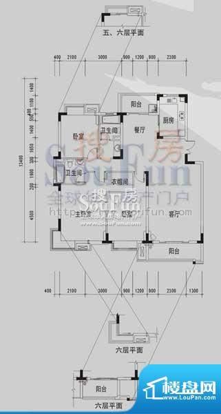 御景龙湾B1(3室2厅面积:145.07m平米