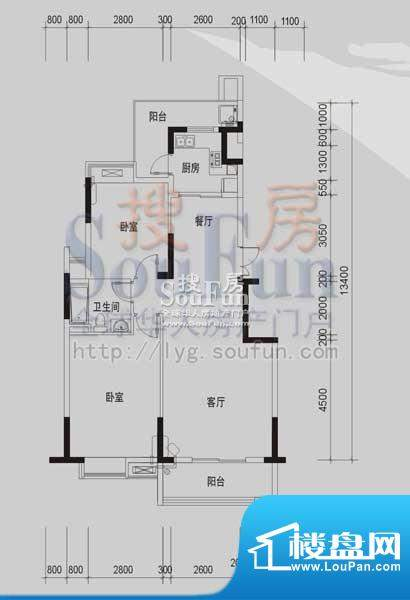 御景龙湾C1(2室2厅面积:98.73m平米