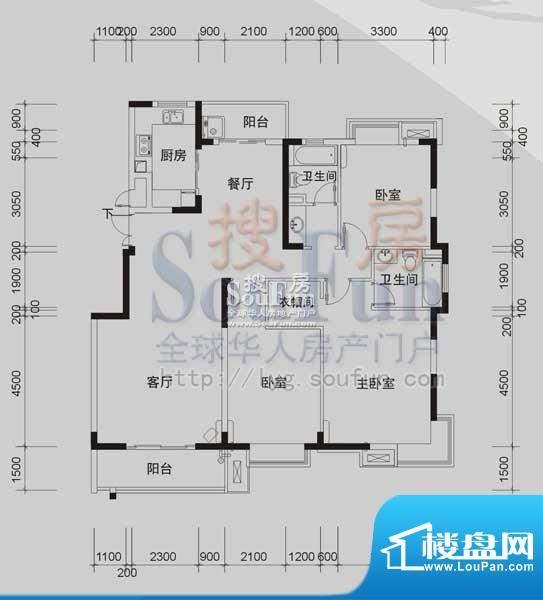 御景龙湾D1(3室2厅面积:148.92m平米