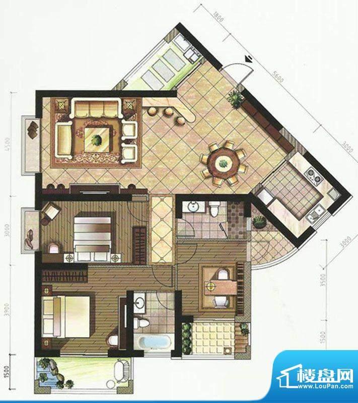 上江名都B栋01单元 面积:157.42m平米
