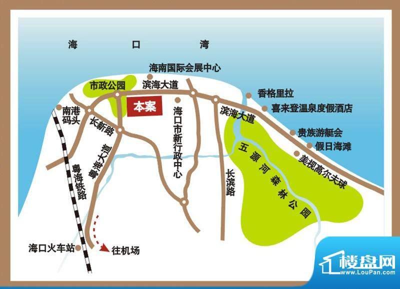 西海瑞园交通图