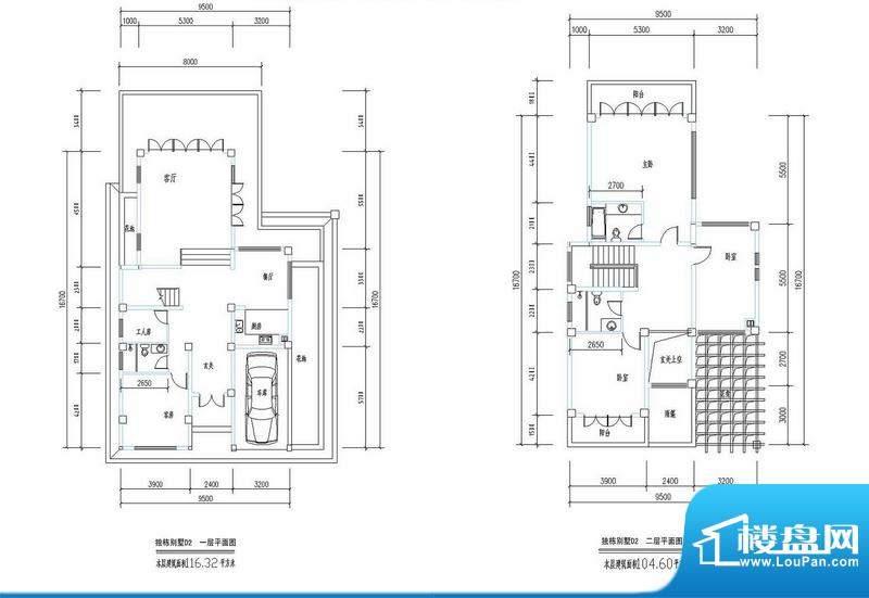 西海瑞园独栋别墅D2面积:220.92平米