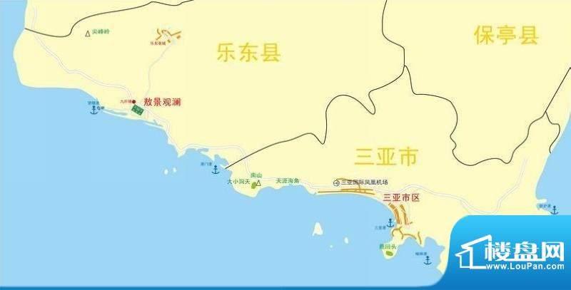 傲景观澜九龙湾国际温泉花园交通图