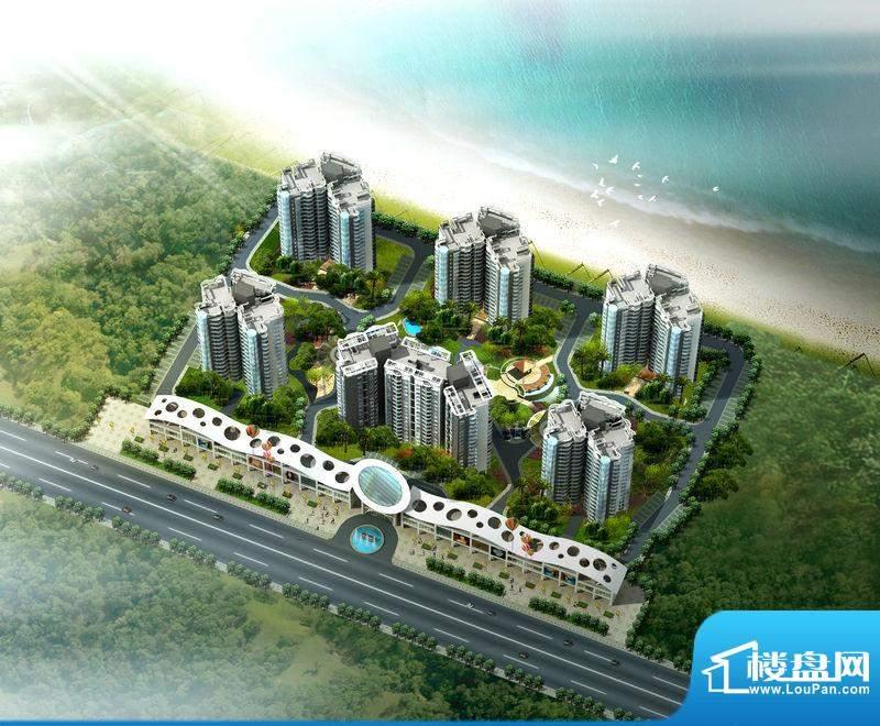 傲景观澜九龙湾国际温泉花园鸟瞰图