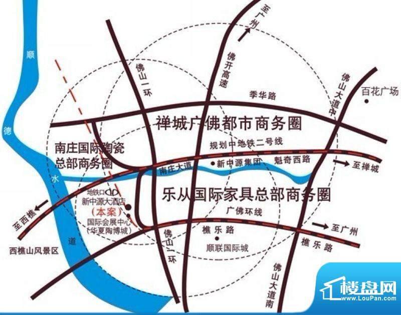 新中源国际商务公寓交通图