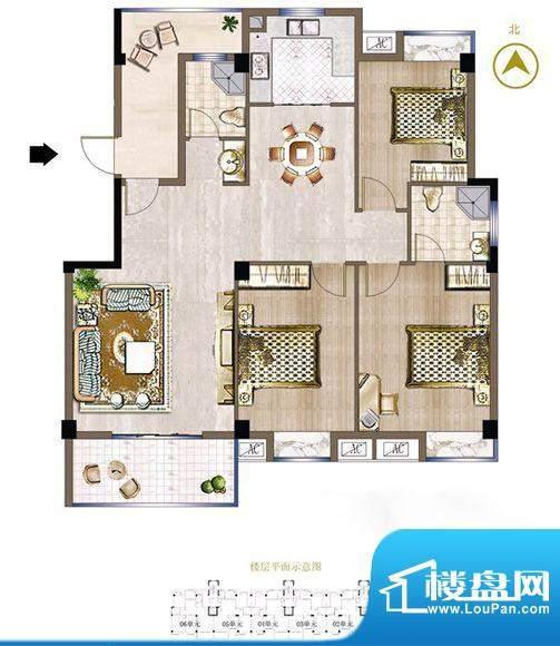 晟发名都46#楼01单元面积:140.83m平米