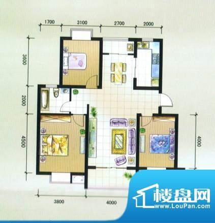香阁里拉花园G1户型面积:109.37m平米