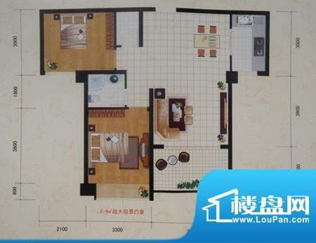 紫云国际两房两厅一面积:0.00m平米