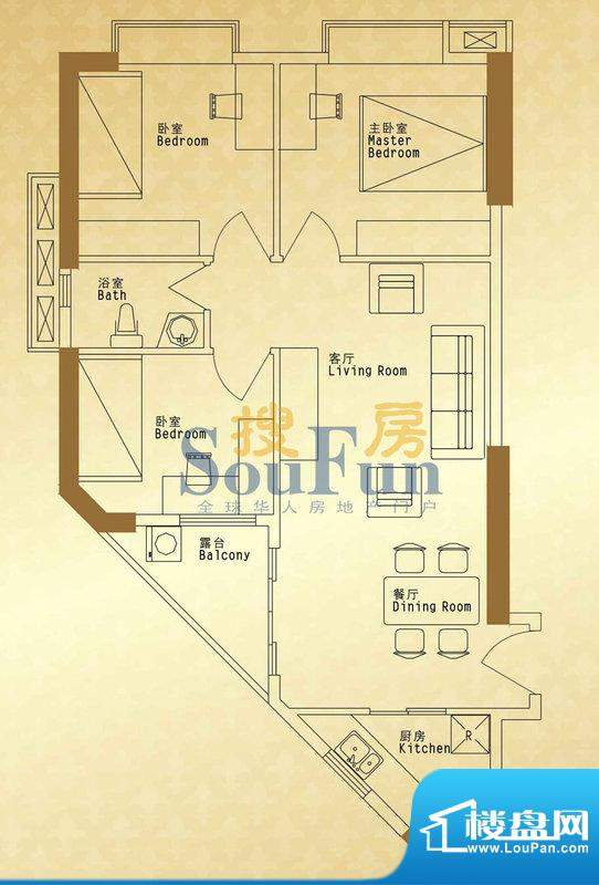馨润尚寓B1座05单元面积:87.76平米