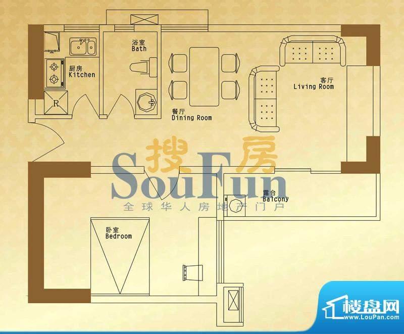 馨润尚寓B2座12单元面积:63.90平米
