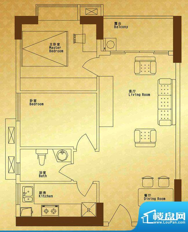 馨润尚寓B1座06单元面积:73.86平米