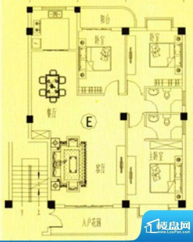 书香门第7-12号楼E户面积:120.00m平米