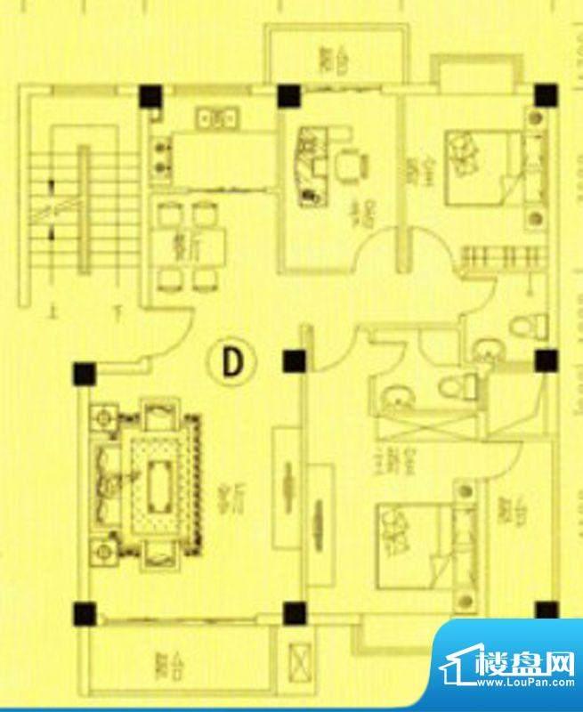 书香门第16-18号楼D面积:100.00m平米