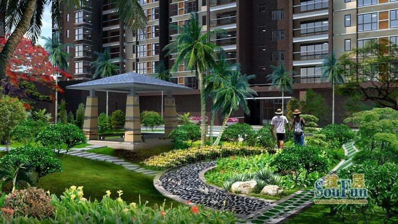 城市明珠园林绿化效果图