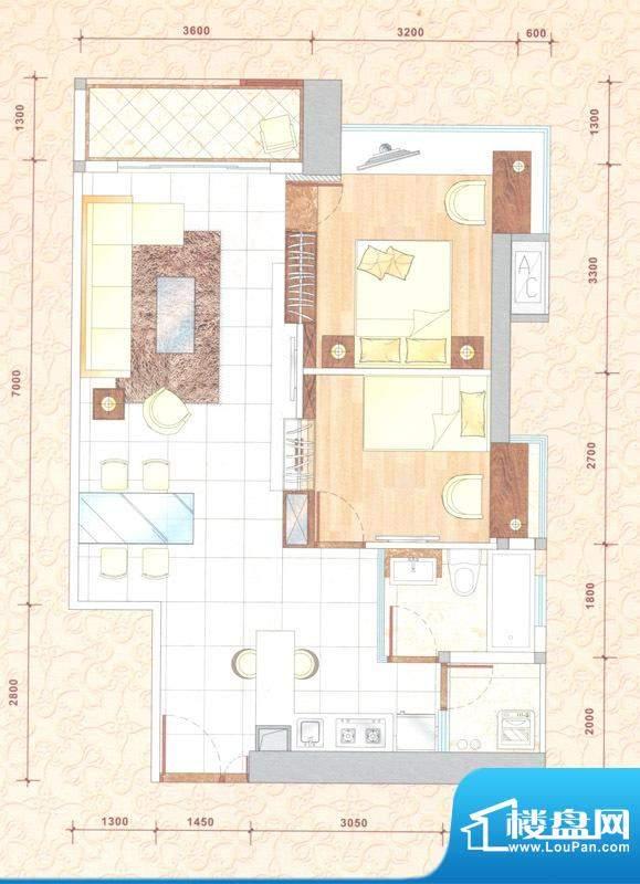 新中源国际商务公寓面积:90.00平米