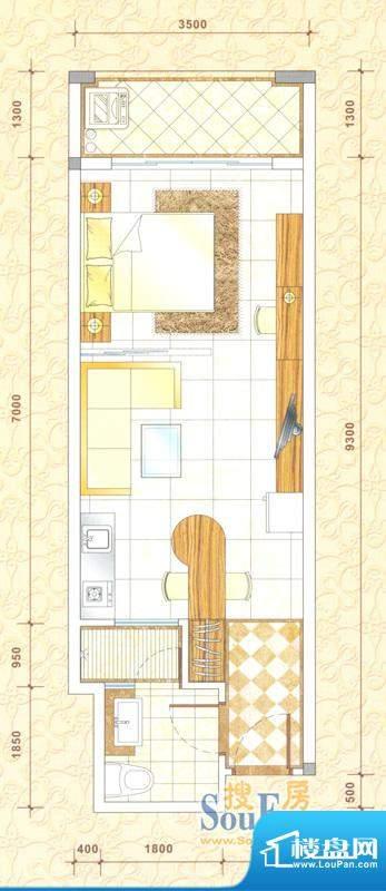 新中源国际商务公寓面积:48.00平米