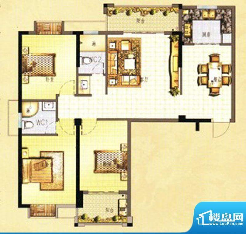 万春中央公馆3栋1单面积:123.00m平米