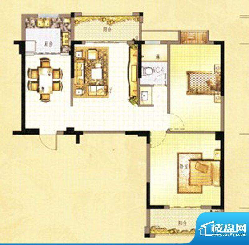 万春中央公馆3栋2单面积:101.00m平米