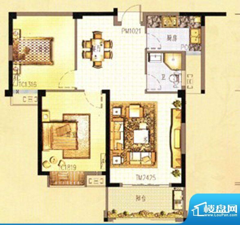 万春中央公馆8栋3单面积:88.00m平米