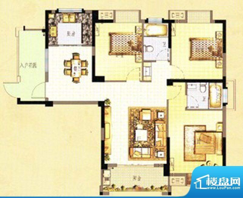 万春中央公馆8栋2单面积:122.00m平米