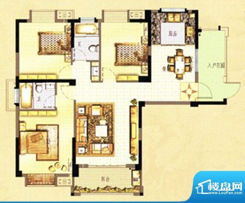 万春中央公馆8栋1单面积:122.00m平米