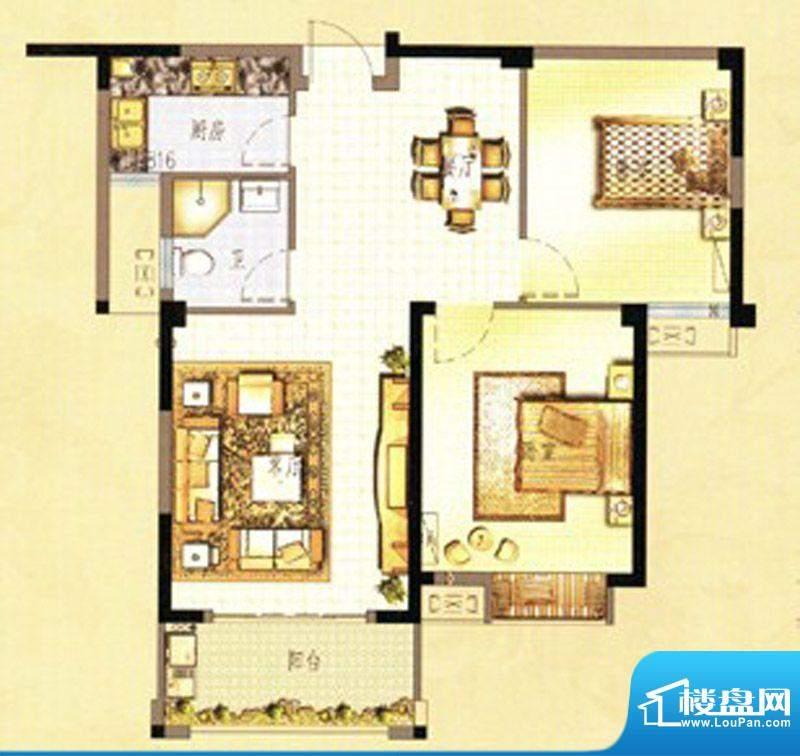 万春中央公馆7栋4单面积:88.00m平米