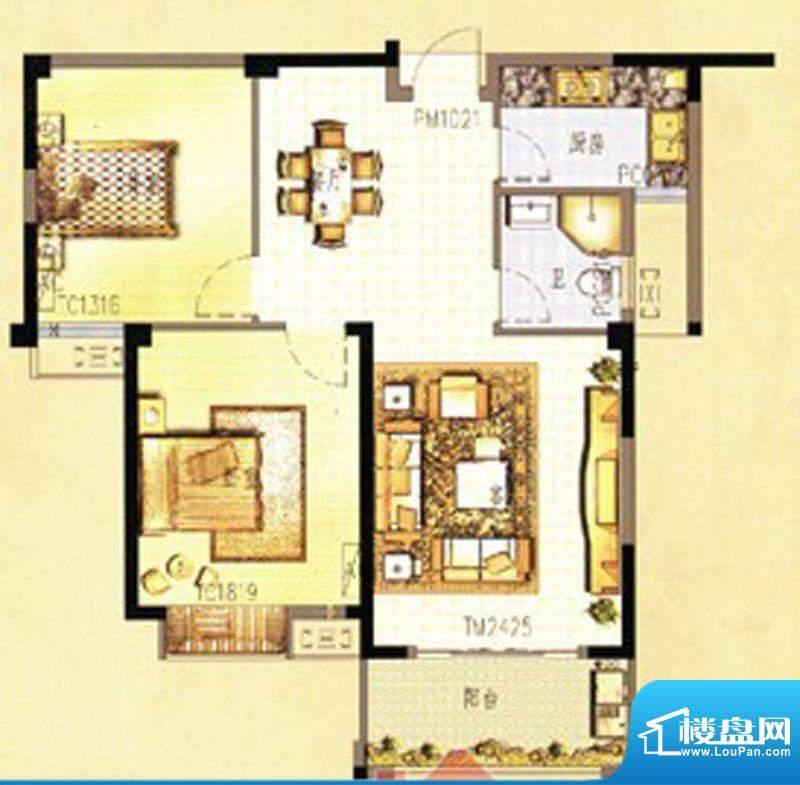 万春中央公馆7栋3单面积:88.00m平米